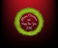 Christmas circle wreath without decoration with text Stock Photos