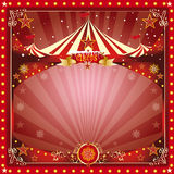 Christmas circus card Stock Image
