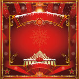 Christmas circus greeting card Royalty Free Stock Photography