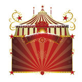 Christmas circus. A circus sign isolated on white background for your xmas entertainment Royalty Free Stock Image