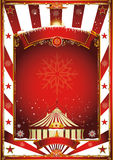 Christmas circus vintage poster Royalty Free Stock Photo