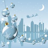 Christmas in the city. Background with Santa Claus Stock Photography