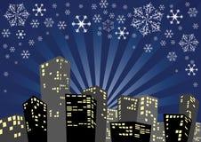 Christmas city Royalty Free Stock Photos