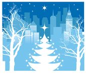 Christmas city Royalty Free Stock Photos