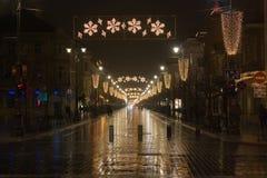 Christmas city Stock Image
