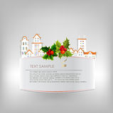 Christmas City background  made of paper stickers Royalty Free Stock Photography