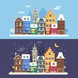 Christmas City Banners Royalty Free Stock Photos
