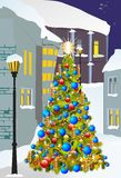 Christmas in the city Royalty Free Stock Photos
