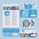 Christmas city concept design. Corporate identity Stock Images