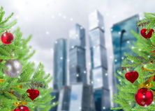 Christmas  in the city Royalty Free Stock Photography