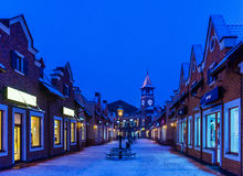 Christmas city lights Royalty Free Stock Images
