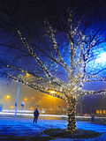 Christmas City Lights Stock Images
