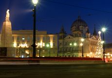Christmas city Lodz. Stock Photo