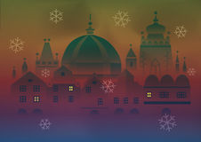 Christmas city Stock Images