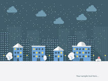 Christmas cityscape card design. Eps10 vector Stock Photography