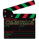 Christmas Clapper Board Stock Photography
