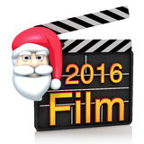 Christmas clapperboard Royalty Free Stock Photos