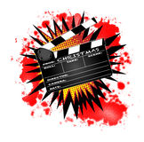 Christmas Clapperboard Stock Image