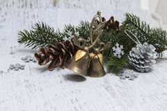 Christmas classic decoration background Royalty Free Stock Images