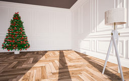 Christmas classic interior Royalty Free Stock Images