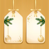 Christmas classic labels Royalty Free Stock Images