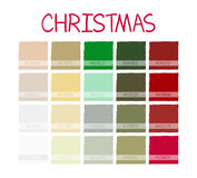 Christmas Classic Tone Colors. Palette Scheme Vintage Colors. with Code. Vector Illustration Stock Photography