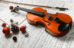 Christmas. Classical Concert Music Popular Music Concert Violin Holiday Winter Royalty Free Stock Image