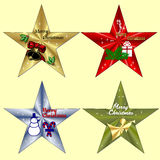 Christmas Clip Art. Four clip art-Christmas theme Royalty Free Stock Images