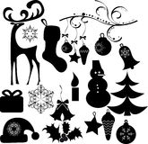 Christmas clip art Royalty Free Stock Photos