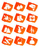 Christmas clip art icons Royalty Free Stock Photos