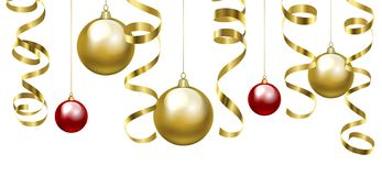 Christmas Clip Art With Baubles Stock Image