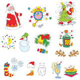 Christmas clip-arts (vector) Stock Image