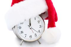 Christmas clock Stock Photography