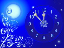 Christmas clock Royalty Free Stock Photos