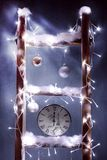 Christmas clock Stock Images
