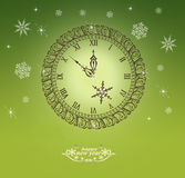 Christmas clock Royalty Free Stock Photo