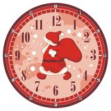 Christmas Clock Face Royalty Free Stock Image