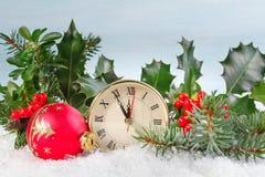 Christmas clock Royalty Free Stock Photography