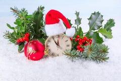 Christmas clock Stock Photography