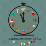 Christmas clock Royalty Free Stock Photos