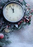 Christmas clock. Stock Photography