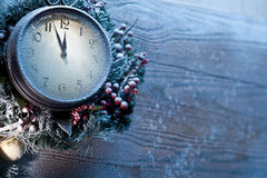 Christmas clock. Stock Image