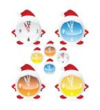 Christmas clock set Royalty Free Stock Image