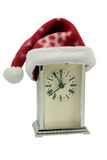christmas clock showing midnight Stock Image