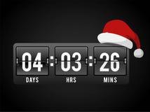 Christmas clock timer digits board panels Stock Image