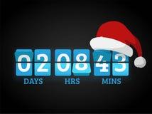 Christmas clock timer digits board panels Royalty Free Stock Photo