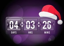 Christmas clock timer digits board panels. Website New Year timer counter. Christmas soon. New year, Christmas website timer. Vector timer. Vector website royalty free illustration