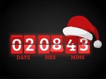 Christmas clock timer digits board panels Royalty Free Stock Photos