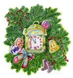 The Christmas clock Stock Photography