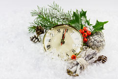 Christmas clock Royalty Free Stock Photography